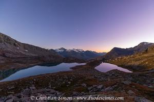 Lac Blanc, Lac Noir et refuge du Carro