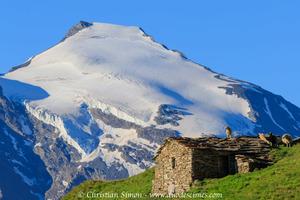 Le Charbonnel vu des alpages des Roches