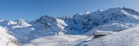 Massif de l'Albaron depuis le vallon de la Lenta