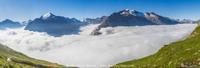 Mer de nuages sur la Haute-Maurienne
